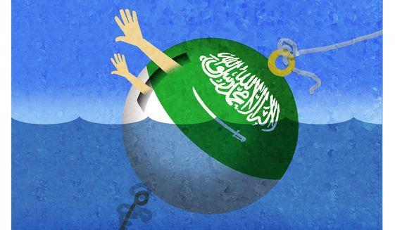 Illustration on the detainment of  Saud al Jabri's family by Alexander Hunter/The Washington Times