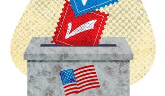 Mailing it In Illustration by Greg Groesch/The Washington Times