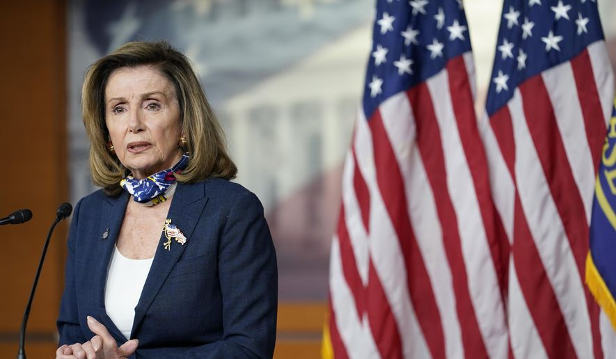 Speaker of the House Nancy Pelosi, D-Calif., speaks during a news conference at the Capitol in Washington, Thursday, Sept. 10, 2020. (AP Photo/Jacquelyn Martin) **FILE**