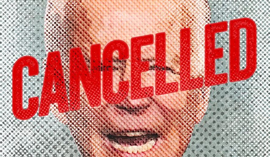 Biden Campaign Cancelled Illustration by Greg Groesch/The Washington Times
