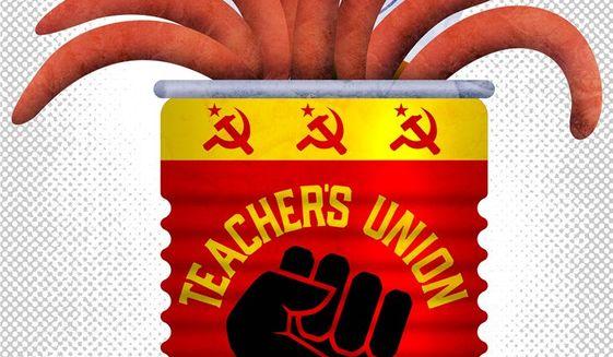 Teachers Union Illustration by Greg Groesch/The Washington Times