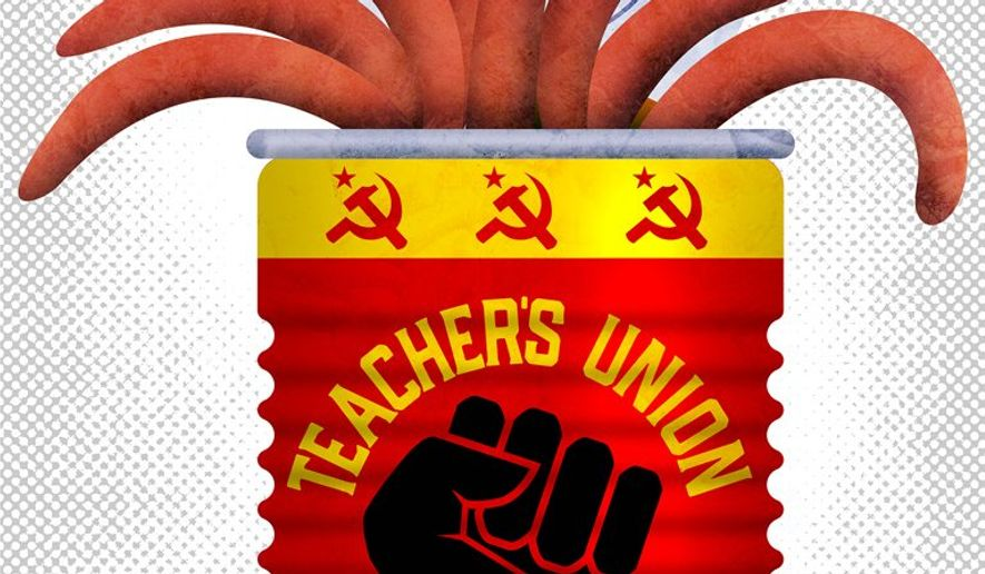 Teachers Union Illustration by Greg Groesch/The Washington Times