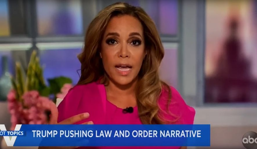 """Sunny Hostin of ABC's """"The View"""" discusses the Black Lives Matter movement, Sept. 13, 2020. (Image: ABC, """"The View"""" video screenshot)"""