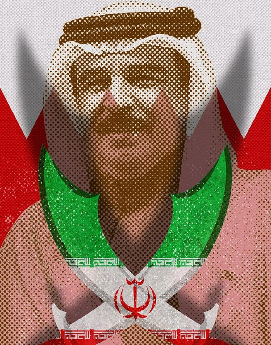 Threat to Bahrain King Illustration by Greg Groesch/The Washington Times