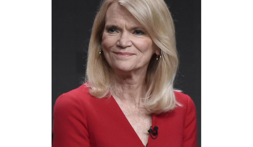 "FILE - Journalist Martha Raddatz participates in ""The Long Road Home"" panel during the National Geographic Television Critics Association Summer Press Tour in Beverly Hills, Calif. on July 25, 2017. When the coronavirus shutdown began, Raddatz figured her plan for a cross-country road trip to meet voters would be shelved, too. But this week Raddatz nears the end of a 6,000-mile journey. (Photo by Chris Pizzello/Invision/AP, File)"