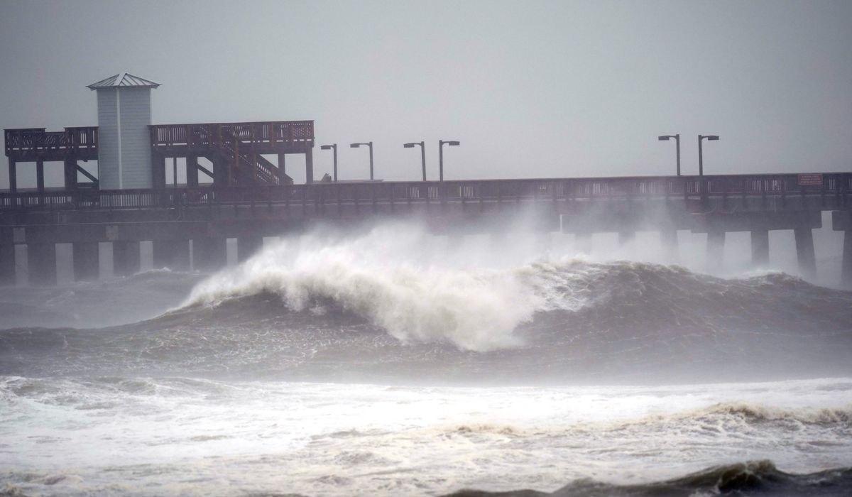 Hurricane Sally finally comes ashore near Gulf Shores,...
