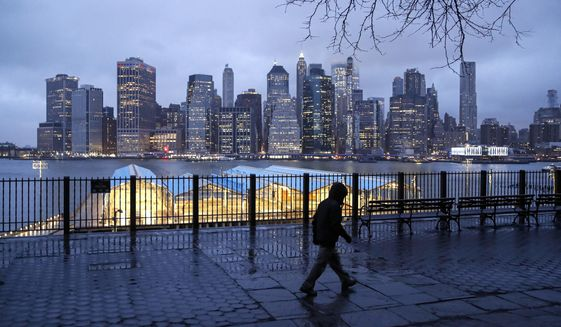 The Big Apple may soon get downsized as New Yorkers cope with the high cost of living and other factors, says a new Manhattan Institute report. Democratic leadership poses great challenges. (Associated Press)