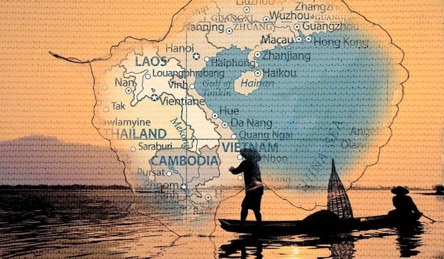 Vietnam Fishing Illustration by Greg Groesch/The Washington Times