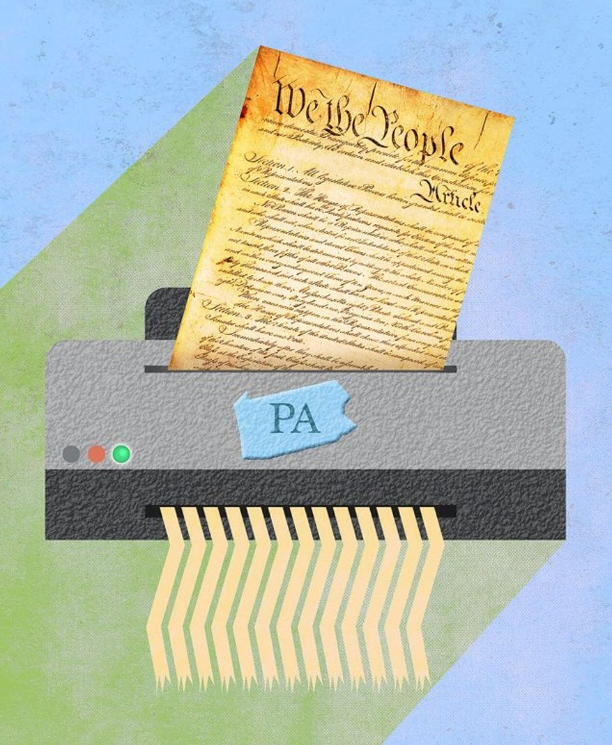 An Attempt to Shred the Constitution Illustration by Greg Groesch/The Washington Times