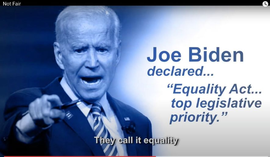Screenshot from an issue ad by the American Principles Project PAC that targets Democratic presidential nominee Joe Biden and Michigan Democratic Sen. Gary Peters, who is running for reelection on Nov. 3, 2020.  (YouTube) [https://www.youtube.com/watch?v=mCqsC-MDV1A&ab_channel=AmericanPrinciplesProjectPAC]