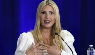 Daughter and adviser of President Donald Trump, Ivanka Trump participates in the Phoenix Business Roundtable Wednesday, Sept. 16, 2020, in Phoenix. (AP Photo/Ross D. Franklin)