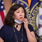 Rep. Grace Meng, D-N.Y. speaks during a news conference on Capitol Hill, Wednesday, May 27, 2020, in Washington. (AP Photo/Manuel Balce Ceneta) **FILE**