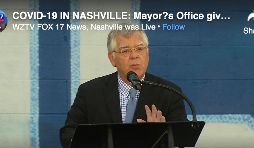 Nashville Mayor John Cooper, Democrat, talks to reporters about the coronavirus pandemic, Sept. 17, 2020. (Image: Fox-17 Nashville press conference screenshot)   **FILE**