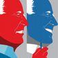 Illustration on Biden's flip-flopping by Linas Garsys/The Washington Times