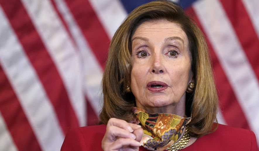 House Speaker Nancy Pelosi of Calif., speaks during a news conference about COVID-19, Thursday, Sept. 17, 2020, on Capitol Hill in Washington. (AP Photo/Jacquelyn Martin)