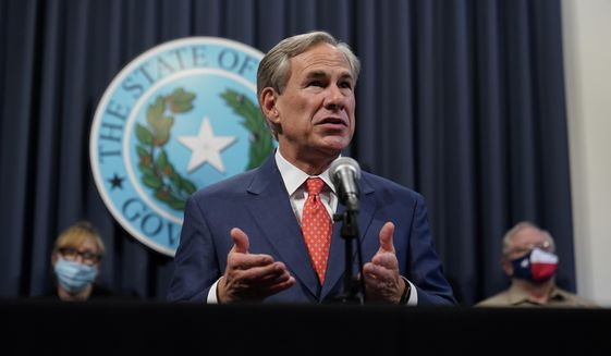 Texas Gov. Greg Abbott speaks during a news conference where he provided an update to Texas' response to COVID-19, Thursday, Sept. 17, 2020, in Austin, Texas. (AP Photo/Eric Gay)