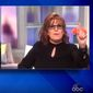 "Joy Behar of ABC's ""The View"" spars with GOP House candidate Kim Klacik, Sept. 18, 2020. (Image: ABC, ""The View"" video screenshot)"