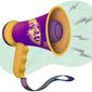 Kamala Harris Megaphone Illustration by Greg Groesch/The Washington Times