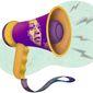 Kamala Harris Megaphone Illustration by Greg Groesch/The Washington Times