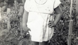This image provided by the Supreme Court, shows Joan Ruth Bader at two-years-old in 1935, at her home in the Brooklyn borough of New York. (Collection of the Supreme Court of the United States via AP)