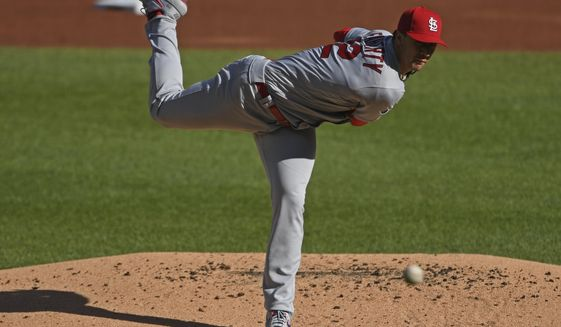 St. Louis Cardinals starting pitcher Jack Flaherty delivers during the first inning of a baseball game against the Pittsburgh Pirates, Sunday, Sept. 20, 2020, in Pittsburgh. (AP Photo/David Dermer) Pennsylvania