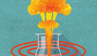 Resume Nuclear Testing Illustration by Greg Groesch/The Washington Times