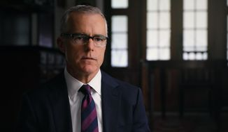 "This image released by HBO shows Andrew McCabe in a scene from the documentary ""Agents of Chaos."" (HBO via AP)  **FILE**"