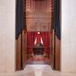 The entrance to the Supreme Court building's courtroom is seen through in this Sept. 19, 2020, file photo. (Associated Press)  **FILE**
