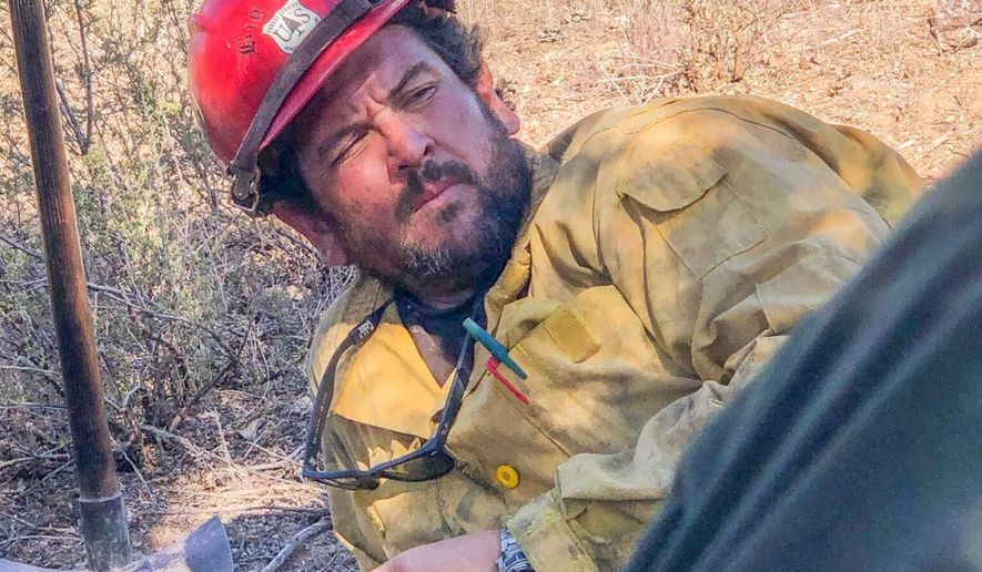 This photo provided by the family via the U.S. Forest Service shows Charles Morton, a squad boss with the Big Bear Interagency Hotshot Crew of the San Bernardino National Forest, in San Bernardino, Calif. Morton died Sept. 17, 2020, in San Bernardino National Forest as crews battled the El Dorado Fire about 75 miles (120 kilometers) east of Los Angeles, the U.S. Forest Service said in a statement. (Family Photo/Courtesy of U.S. Forest Service via AP)