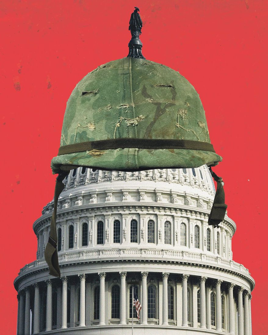 Illustration on Congress and foreign policy by Linas Garsys/The Washington Times