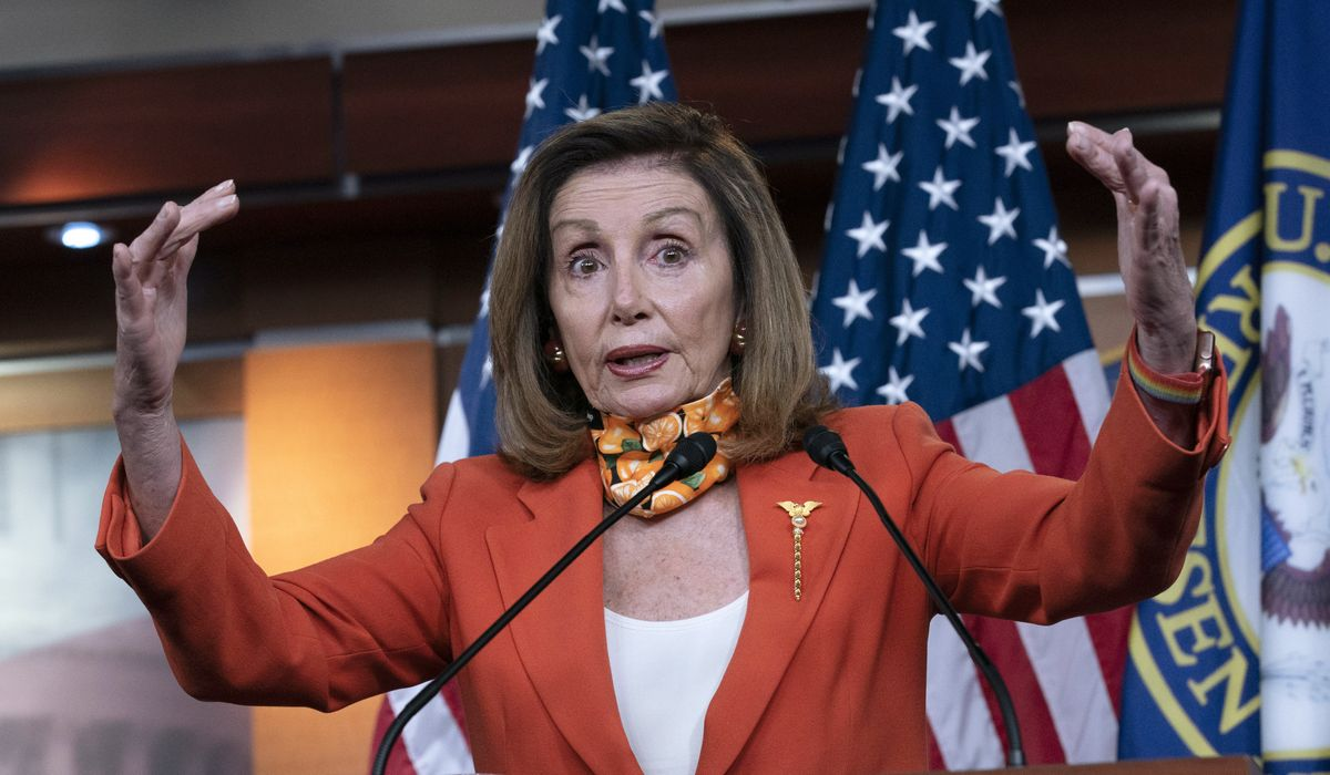 Pelosi returns to virus lie that Trump says 'people swallow Clorox,' claims Constitution next victim