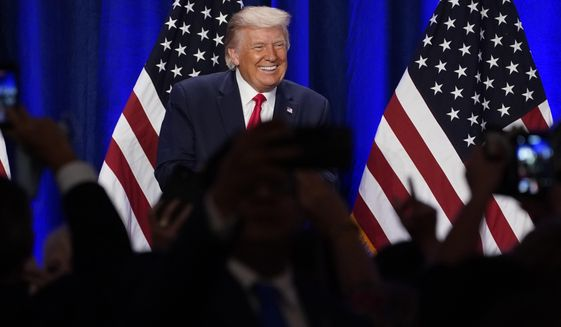 President Donald Trump smiles after a Latinos for Trump event at Trump National Doral Miami resort, Friday, Sept. 25, 2020, in Doral, Fla. (AP Photo/Evan Vucci)