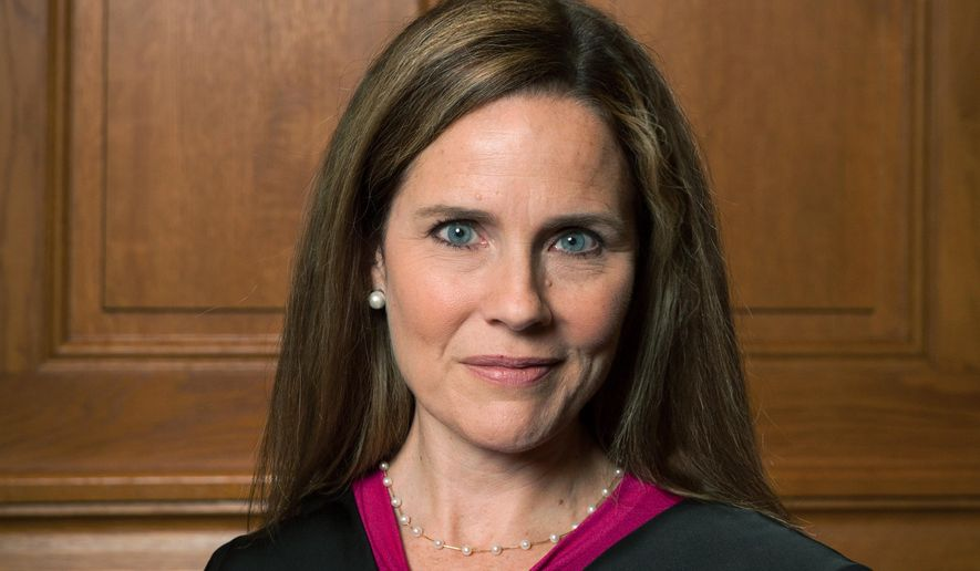 This image provided by Rachel Malehorn shows Judge Amy Coney Barrett in Milwaukee, on Aug. 24, 2018. (Rachel Malehorn, rachelmalehorn.smugmug.com, via AP)  **FILE**