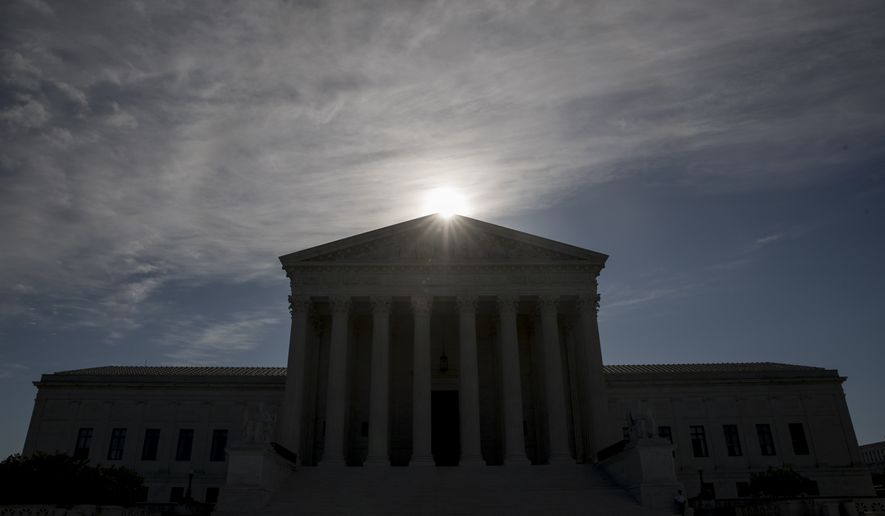 FILE - This May 4, 2020, file photo shows the Supreme Court building in Washington. (AP Photo/Andrew Harnik, File)