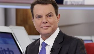 """Shepard Smith appears on The Fox News Deck before his """"Shepard Smith Reporting"""" program on Jan. 30, 2017, in New York. Two weeks shy of a year after his abrupt exit from Fox News Channel, Smith is making his return to television. His general interest newscast on CNBC premieres Wednesday, Sept. 30, 2020, at 7 p.m. Eastern.  (AP Photo/Richard Drew, File)"""