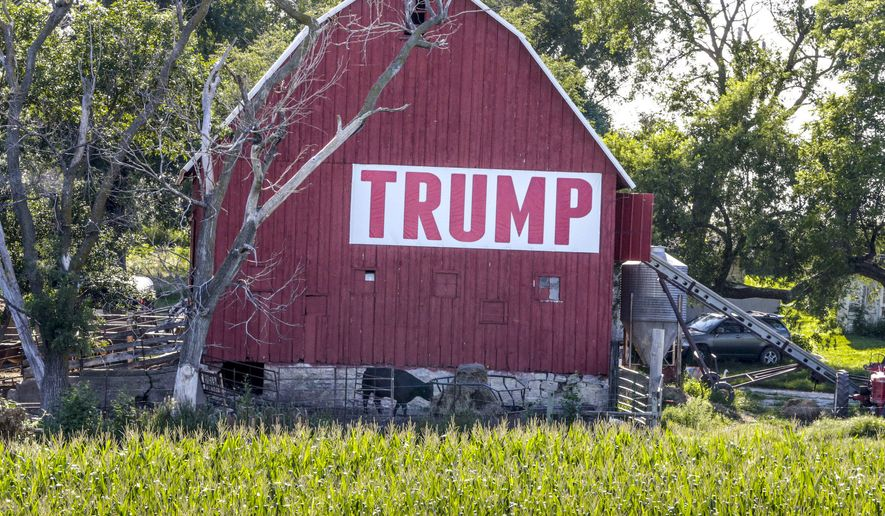 """The survey of more than 1,000 adults in rural counties in the United States revealed the majority of rural farmers are likely to elect Donald Trump in the 2020 election."""