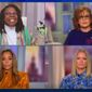 "Whoopi Goldberg of ABC's ""The View"" discusses a story by The New York Times on President Trump's taxes, Sept. 28, 2020. ""How dare you!"" the celebrity exclaimed in response to claims about Mr. Trump's income tax payments. (Image: ABC, ""The View"" video screenshot)"
