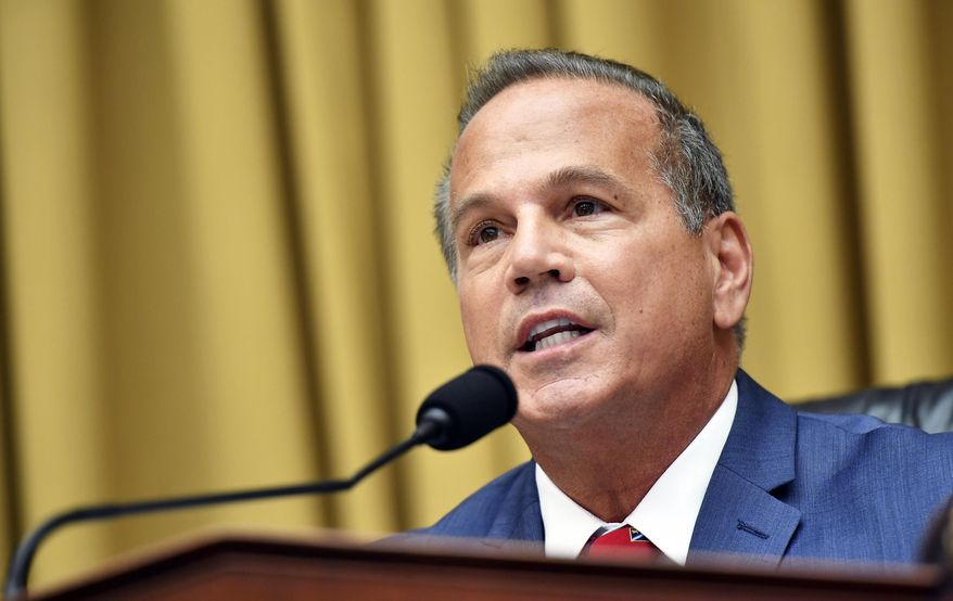 In this file photo, Rep. David Cicilline, D-R.I., speaks during a House Judiciary subcommittee hearing on antitrust on Capitol Hill in a Wednesday, July 29, 2020 file photo, in Washington.  (Mandel Ngan/Pool via AP, File)