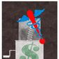 Illustration on surprise medical bills by Alexander Hunter/The Washington Times