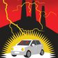 Illustration on electric cars by Linas Garsys/The Washington Times