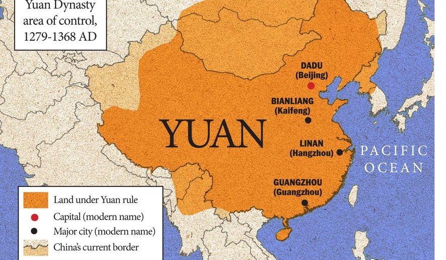 Map of Yuan Dynasty empire    The Washington Times