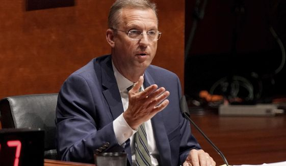 In this June 10, 2020, file photo, Rep. Doug Collins, R-Ga., asks questions during a House Judiciary Committee hearing on Capitol Hill in Washington. (Greg Nash/Pool Photo via AP)