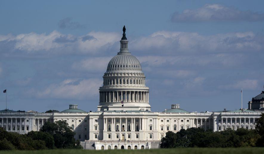 The Capitol is seen in Washington, Wednesday, Sept. 30, 2020, in Washington. (AP Photo/J. Scott Applewhite)
