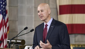 Nebraska Gov. Pete Ricketts speaks during a news conference in Lincoln, Neb., Wednesday, Sept. 30, 2020 in this file photo. (AP Photo/Nati Harnik)  **FILE**