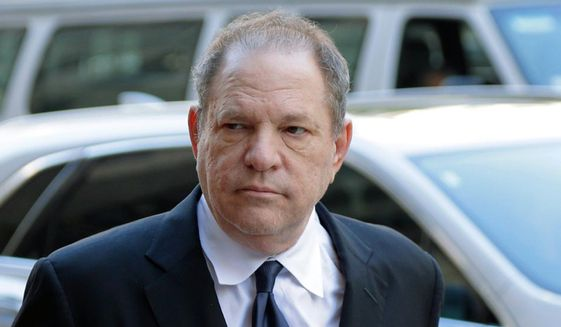 In this July 9, 2018, file photo, Harvey Weinstein arrives to court in New York. (AP Photo/Seth Wenig, File) ** FILE **