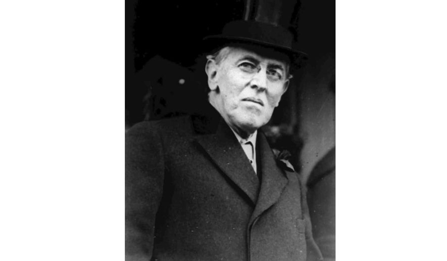 FILE - This 1924 file photo shows Woodrow Wilson. Wilson was at talks in Paris on ending World War I when he fell ill in April 1919. His symptoms were so severe and surfaced so suddenly that his personal physician, Cary Grayson, thought he had been poisoned. After a fitful night caring for Wilson, Grayson wrote a letter back to Washington to inform the White House that the president was very sick.   (AP Photo, File)