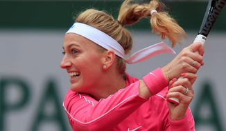 Petra Kvitova reached the French Open quarterfinals for the first time since 2012 after beating Zhang Shuai, 6-2, 6-4, on Monday. (Associated Press)
