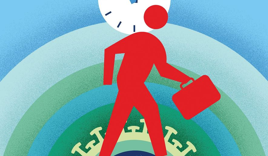 COVID-19 and getting America back to work  illustration by The Washington Times