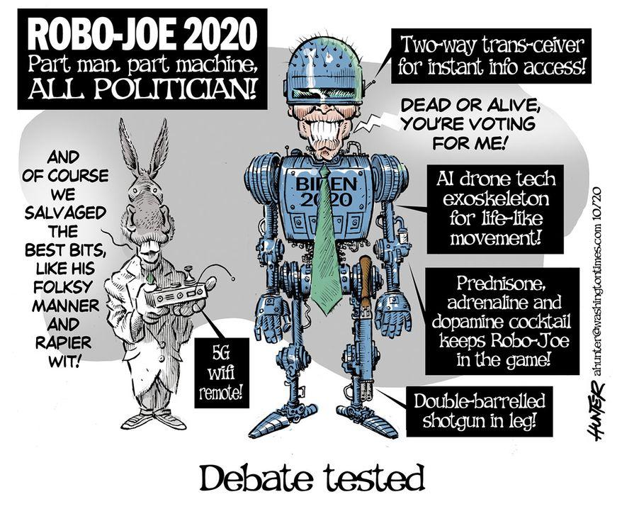 Illustration by Alexander Hunter for The Washington Times (published October 6, 2020)