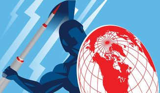 ICBM: The indispensable deterrent illustration by The Washington Times